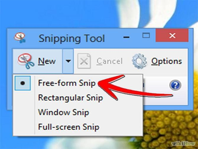 snipping tool to Screenshot on Windows 7