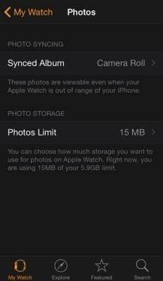 sync Apple Watch screenshot
