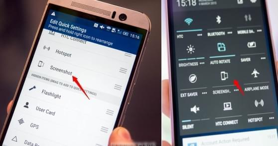 how to screenshot on HTC One M9