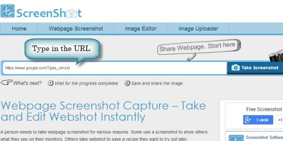 capture page with URL
