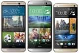 HTC One M9, M8 and M7