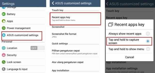 how to screenshot Asus Zenfone 2