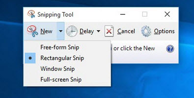 how to run snipping tool in windows 10